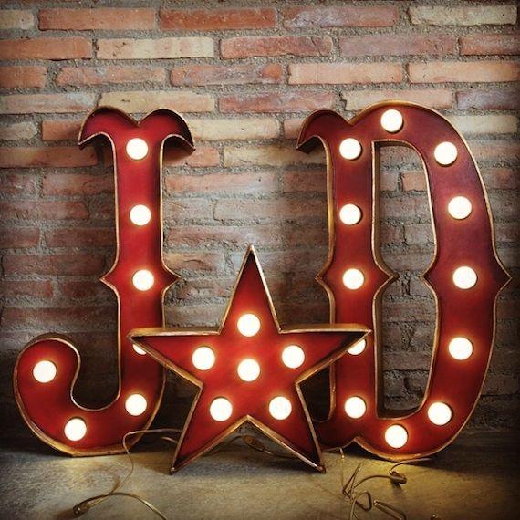 letras con luces para eventos por la factoria plastica