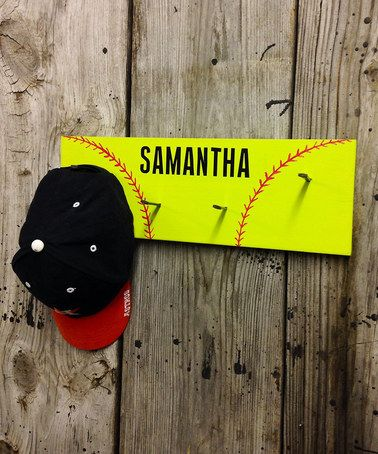 Look at this #zulilyfind! Softball Personalized Wall Hook #zulilyfinds