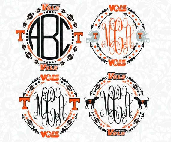 Tennessee monograms ,Tennessee vector, Tennessee Monogram Frame Silhouette…