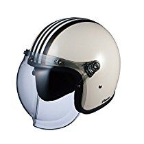 オージーケーカブト(OGK KABUTO)バイクヘルメット ジェット ROCK G1 ホワイトブラック (サイズ:FREE)