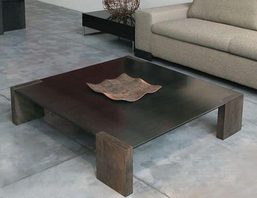 Table basse / contemporaine / en tôle d'acier IRONWOOD by Franco Raggi ZEUS