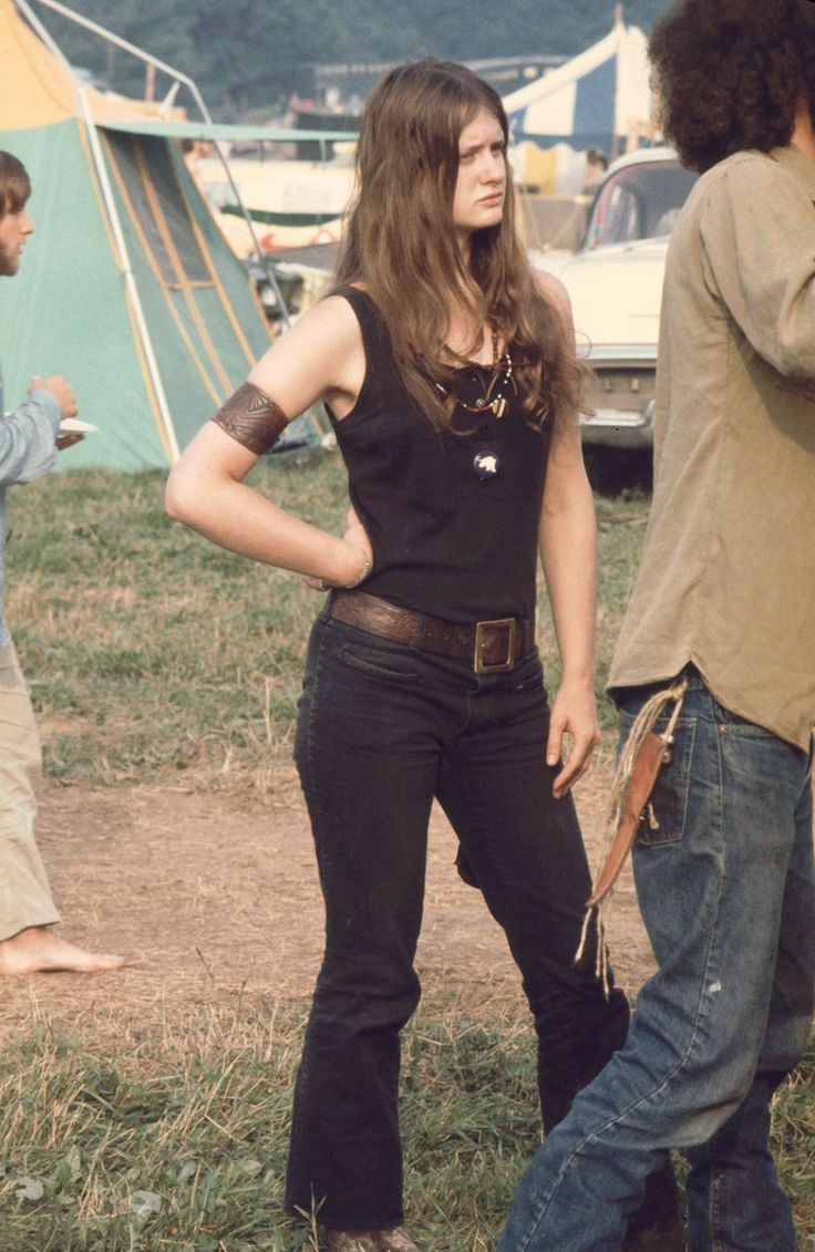 Young Woman Member Of The White Panthers, At The Woodstock Music Festival