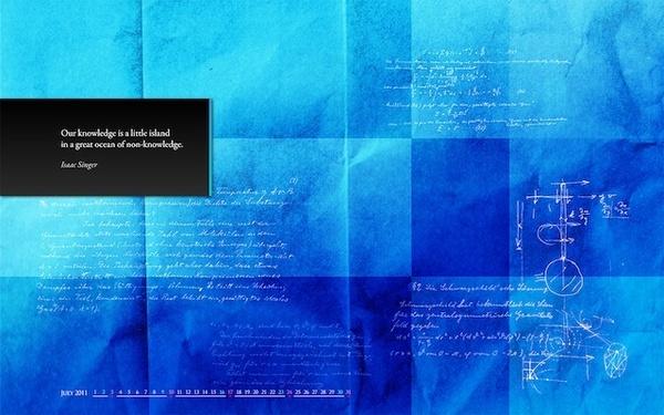 Desktop Calendar Wallpapers by Mac Funamizu, via Behance