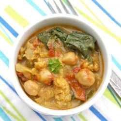 Spicy curried vegetable stew - done South African style in a cauldron over an open fire!