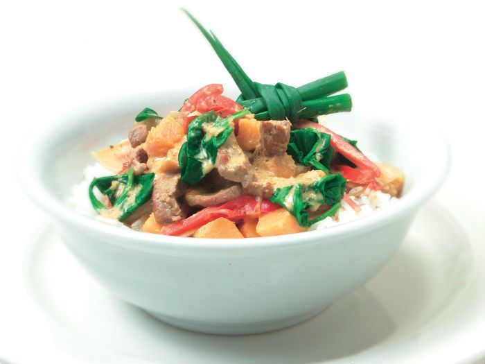 This aromatic Thai-style curry is simple, but delicious.