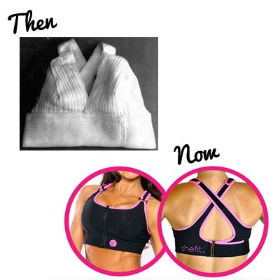 We have come a long way baby!  The modern sports bra was not invented until 1977, when a student in Vermont sewed two jock straps together in an effort to support her aching breasts when she went jogging. #tbt #throwbackthursday