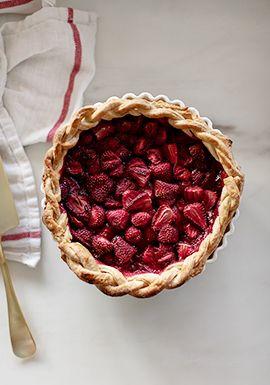 Tarte aux fraises maison
