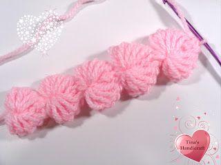 Tina's handicraft : heart crochet string