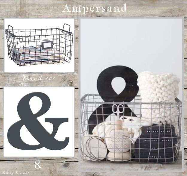 Basket & ampersand #leenbakker