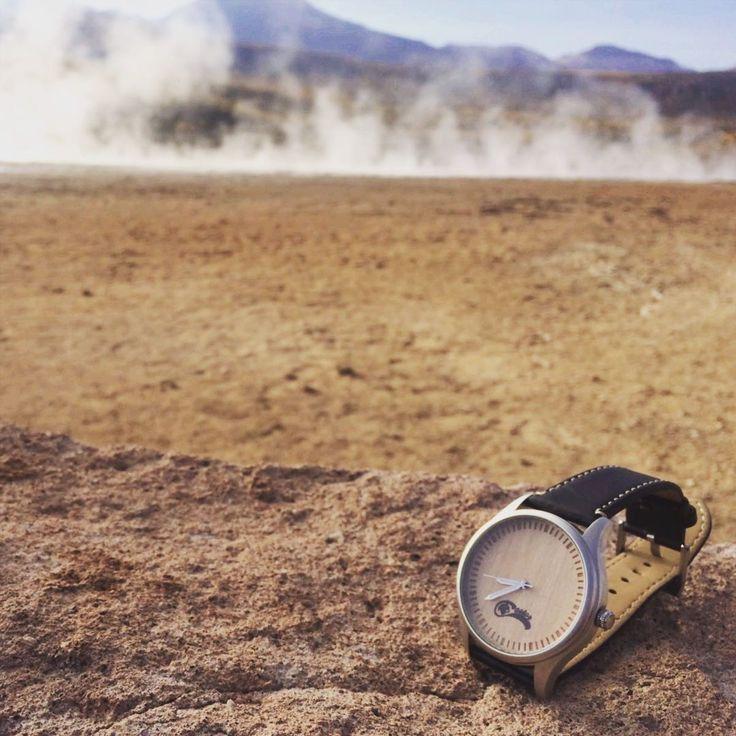 Early morning  in #geysersdeltatio #sanpedrodeatacama and #castorwatches .  http://ift.tt/1RZA1G6  worldwide shipping. Envío gratis en todo #chile  ! #reloj #watches #montres #montre #bamboowatch #watch #woodenwatch #accesorios #relojesdemadera #relojes