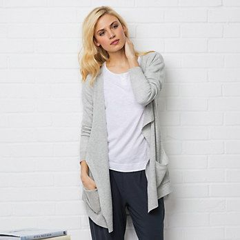 Cashmere Waterfall Pocket Cardigan | The White Company