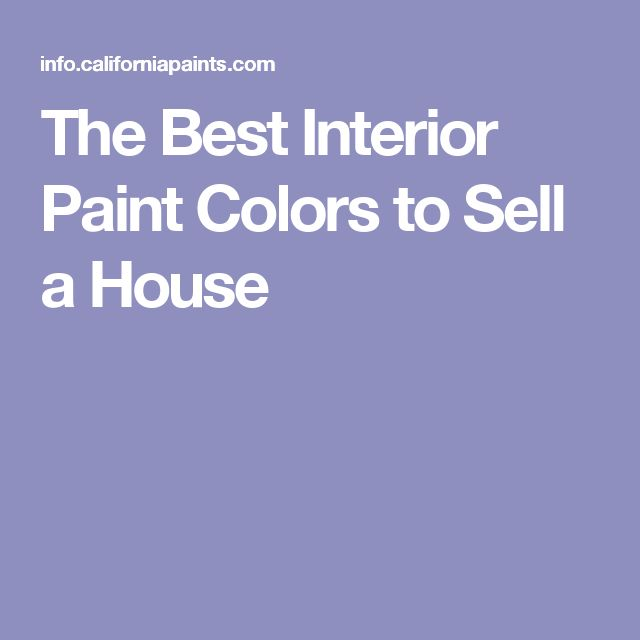Best paint colors to sell your home favorite paint 111 for Best colors for selling a house