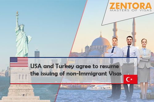 USA and Turkey agree to resume the issuing of non-Immigrant Visas