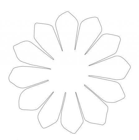 Шаблоны ромашки для вырезания из бумаги: рисунок трафарета скачать и распечатать