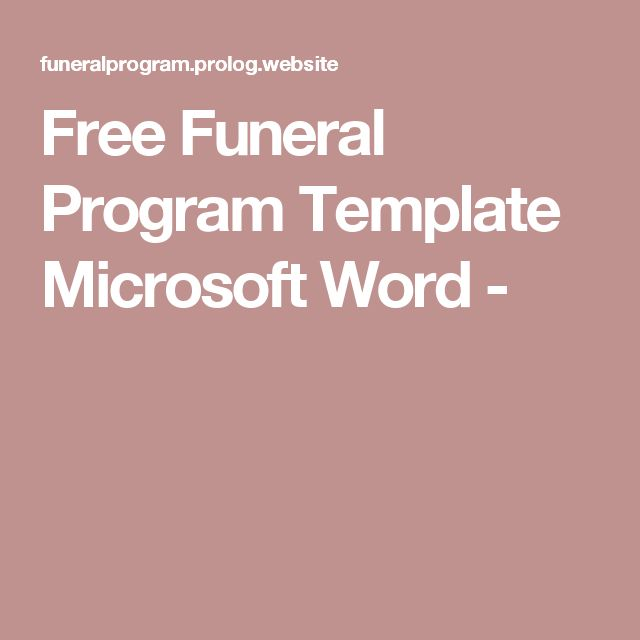 The 25+ best Funeral program template free ideas on Pinterest - microsoft work order template