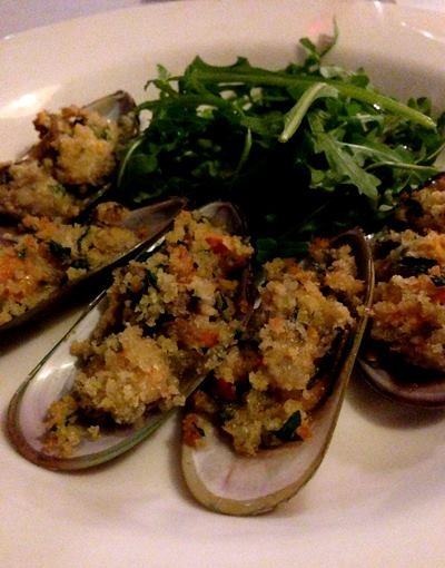 Baked Greenlip Mussels with chilli, garlic & parsley :: (Autumn 2013 menu) #finedining http://www.evesontheriver.com/menus.html