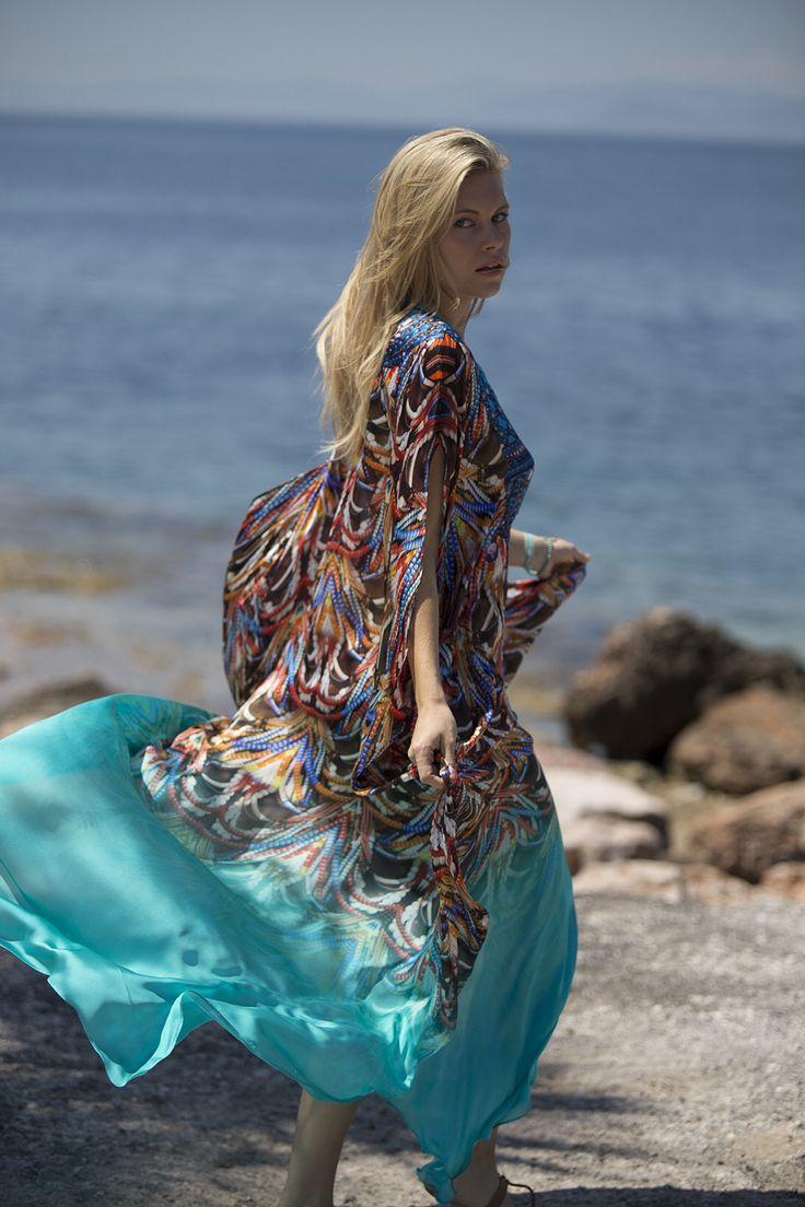 Feel free.... Silk maxi kaftan www.lalicalalica.com