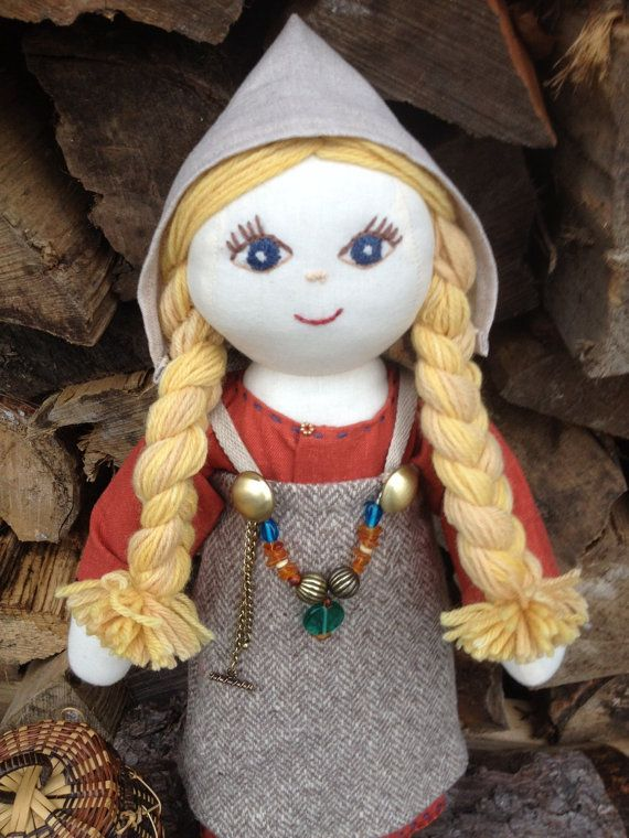 Viking Doll ~ ONE of a KIND Custom Norse Viking Cloth Doll ~ Re-enactor Doll SCA Doll ~ Historical Doll.  From The Practical Viking, on Etsy.