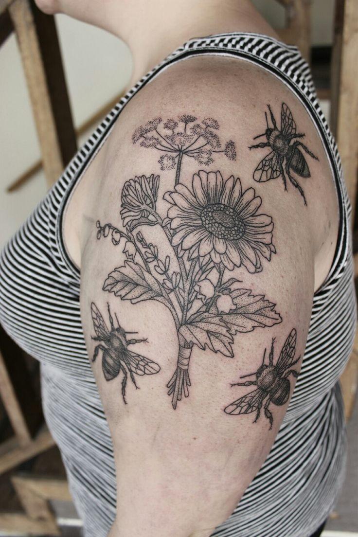 Beauty markings amazing dot and line feminist tattoo