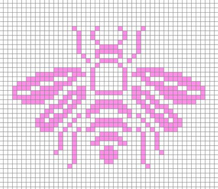 I know it's cross stitch, but it'll help me make a well translated bee embroidery design....