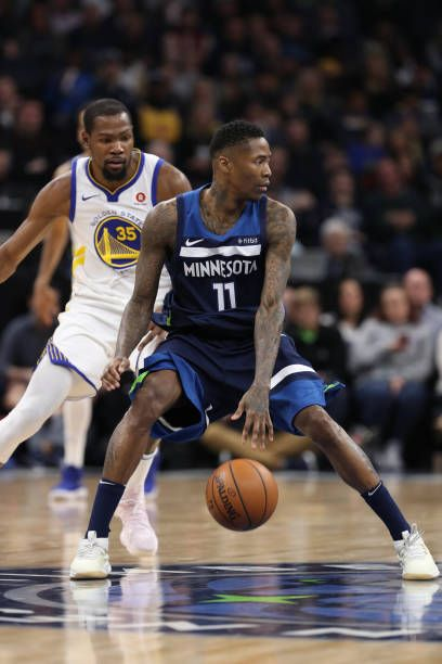 Jamal Crawford of the Minnesota Timberwolves handles the ball during the  game against the Golden State Warriors on March 11 2018 at Target Center in. 7b346c53c