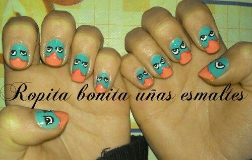 Nail art perry el ornitorrinco :)
