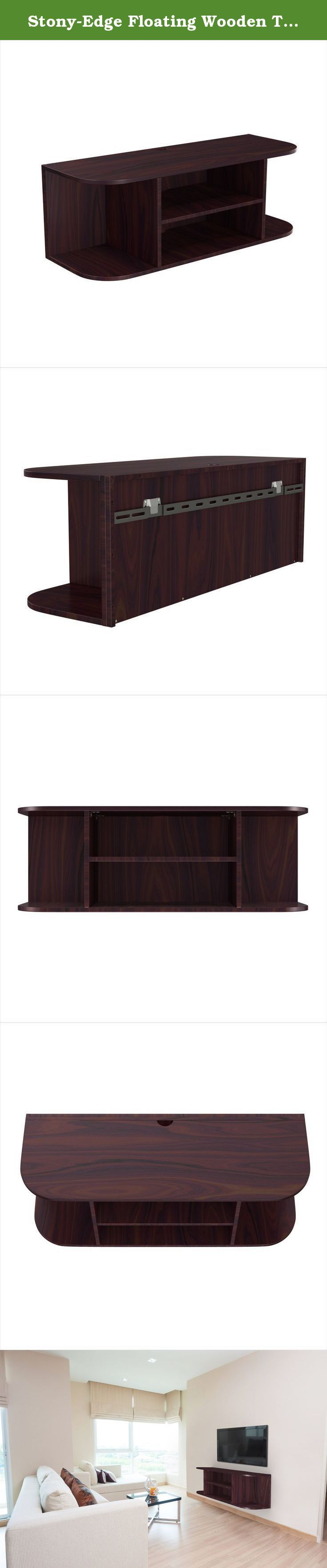 Stony-Edge Floating Wooden TV Wall Mount Shelf (Espresso) - Mounted Shelves for Blu-Ray Players, Video Game Consoles, Cable Boxes, Speakers - Easy to Assemble Furniture. Dress up the new mounted LED flat screen by installing a floating wall shelf for your electronics right below it! Do you have a new LCD, LED or 4K TV mounted to your living room wall, but still have the plain, boring and overly large entertainment center taking up space below it? Then you need the Stony-Edge Floating…