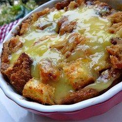 Vanilla sauce, Raisin bread and Bread puddings on Pinterest