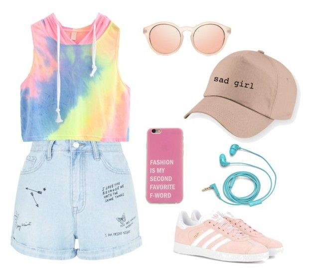 """Untitled #12"" by mara-dobrita on Polyvore featuring New Look, WithChic, adidas Originals and FOSSIL"