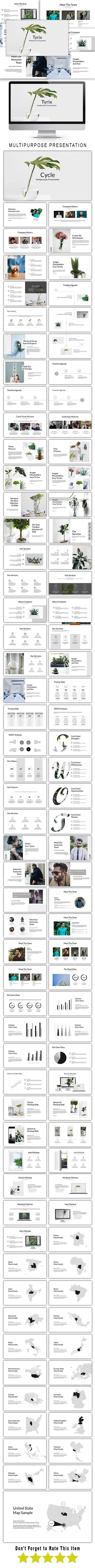 Tyrix Multipurpose Powerpoint Template - PowerPoint Templates Presentation Templates