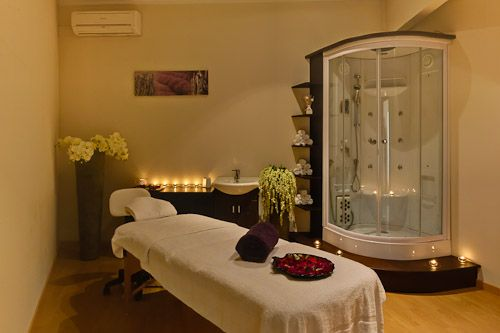 One of our 2 treatment rooms in the Spa