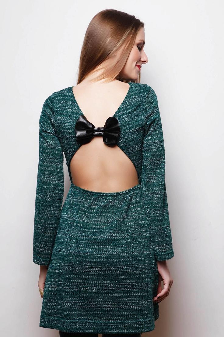 Φόρεμα με Δερμάτινο Φιόγκο