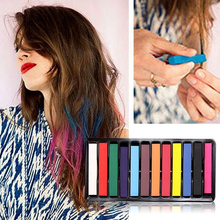 Alcoholvrije Haar Kleur Verven Krijtjes Handig Tijdelijke Super DIY Haarkleur Dye Kleurrijke Krijt Gemakkelijk Toepassen of Wassen