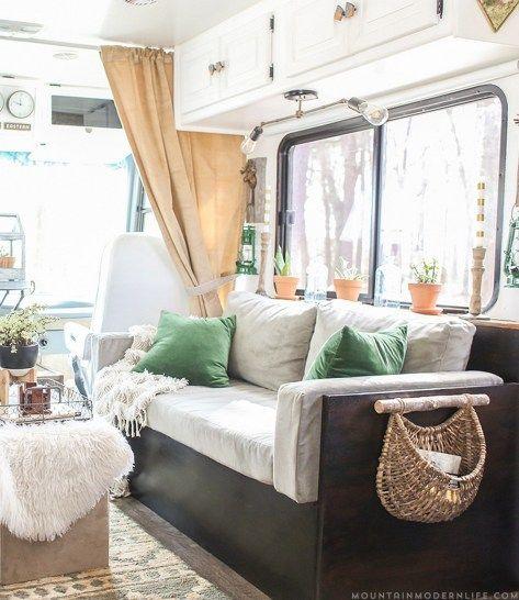 80 Best RV Camper Interior Remodel Ideas (8