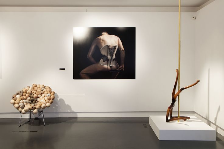 "View of the exhibition ""Nirvana. Strange Forms of Pleasure"" at mudac, 2014. Image by Olga Cafiero #mudac #nirvana #boudoir"