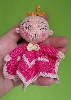 Amigurumi Mini-Baby-Sternschnuffeltuch