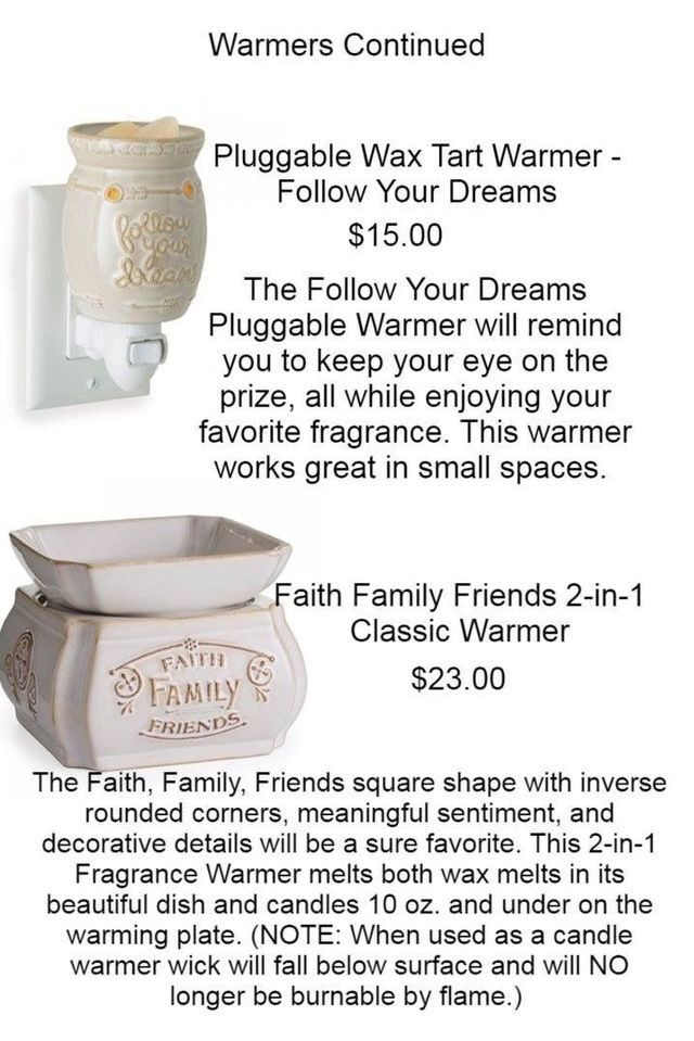 One of our best selling wax melt warmers! The Family, Friends, and Faith one is a 2-1 Warmer forcandles and wax melts. #candlewarmers