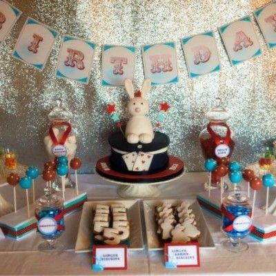 Vintage Magic Show birthday party
