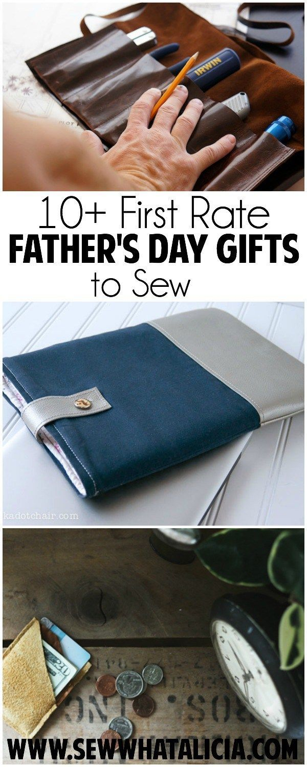 10+ First Rate Father's Day Gifts to Sew | These would also make great Christmas gifts. Guys are hard to sew for so whatever the occasion this is a great collection of guy friendly sewing projects. Click through to see the whole list of projects. www.sewwhatalicia.com