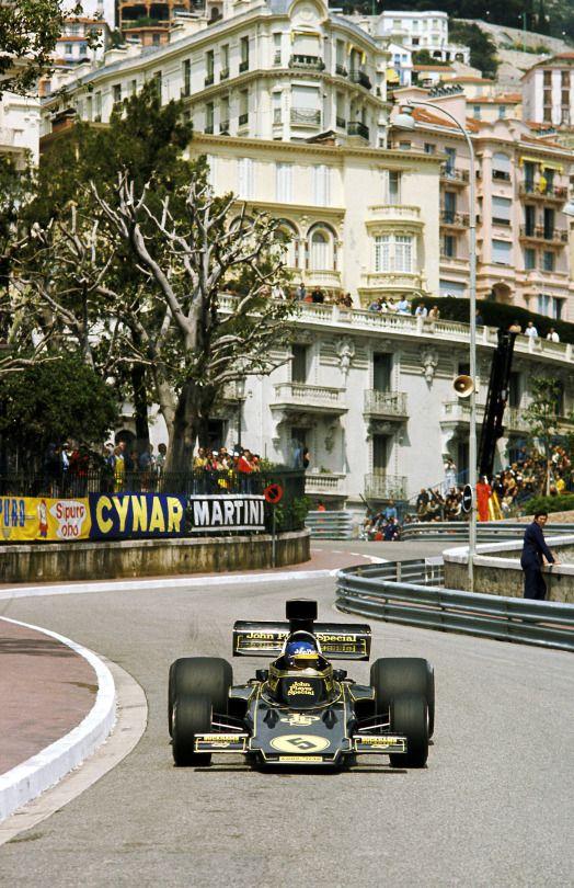 Ronnie Peterson, Lotus-Ford 72E, 1975 Monaco GP, Monte Carlo