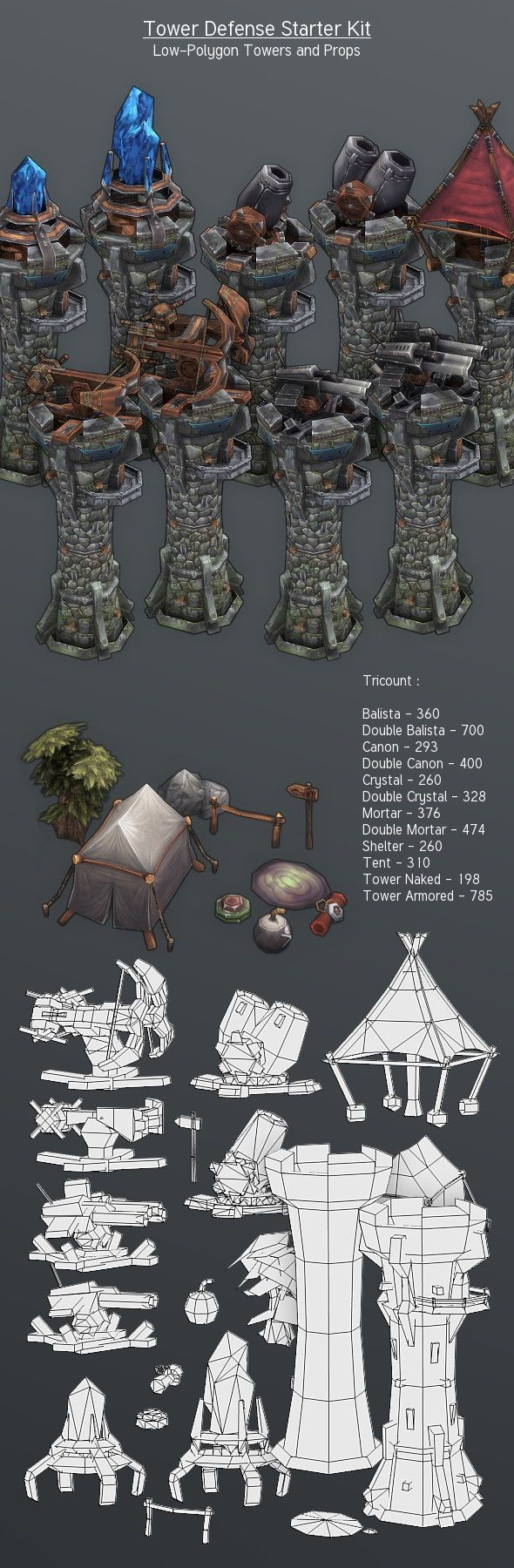 http://3docean.net/item/lowpoly-tower-defense-starter-kit/4390955?WT.ac=solid_search_thumbWT.seg_1=solid_search_thumbWT.z_author=Cremuss