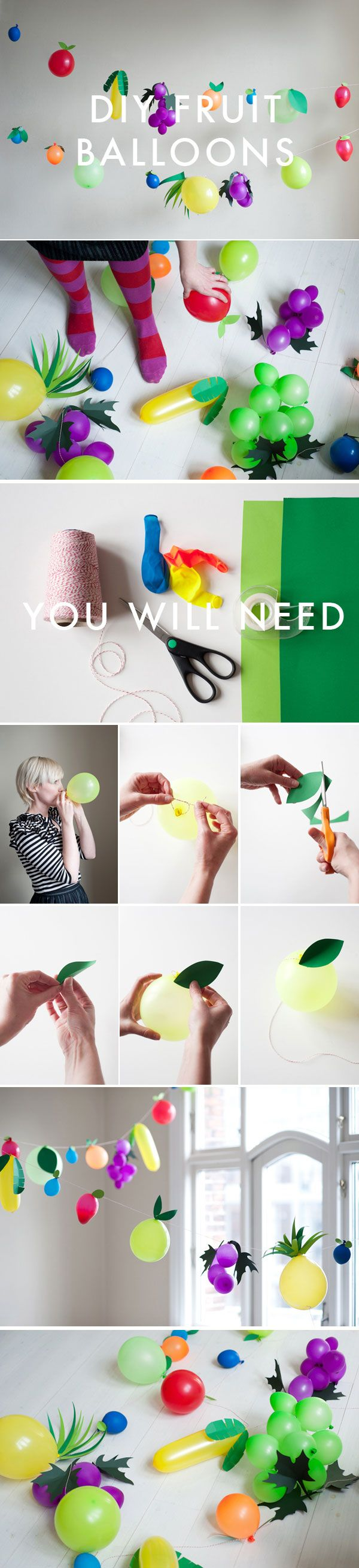 DIY fruit balloons, perfect for a party