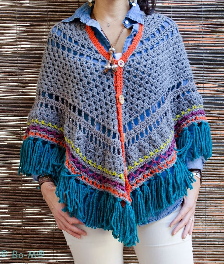 crochet shawl with buttons