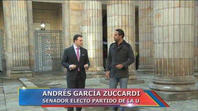 Andres Garcia Zuccardi es el Senador más joven del Congreso de la República de Colombia para el periodo legislativo 2014- 2018, luego de ser elegido por el Partido de la U el pasado 9 de marzo.