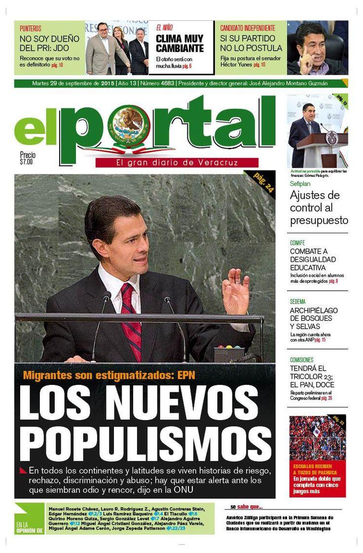 #NoTeLoPierdas Nuestra portada de este #Martes #Xalapa #Veracruz #México #DF #PozaRica #BocaDelRío #Puebla #Tuxpan