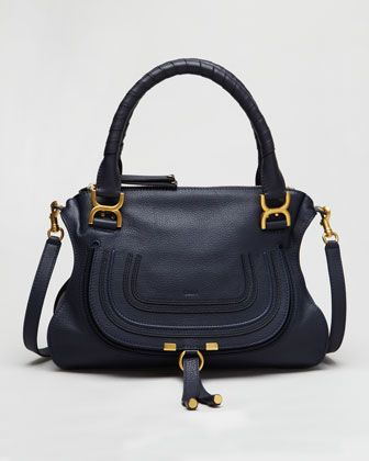 Pebbled Leather Marcie Satchel by Chloe at Neiman Marcus.: Hand Bags, Satchel Bag, Chloe Pebbled, Pebbled Leather, Heart Bags, Leather Marcie, Marcie Satchel, Handbags Wallets