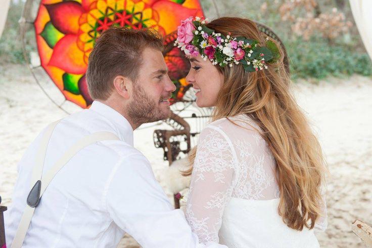 Bohemian Summer bruidegom & bruid Tim en Stephanie Akkerman innig verliefd voor de dromenvanger