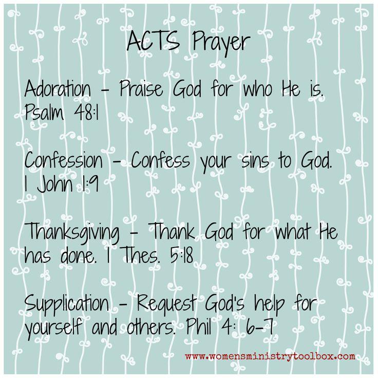 acts prayer blue