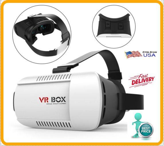 Head-mounted Google Cardboard Version 3D VR Glasses Virtual Reality VR BOX  #Unbranded