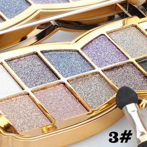 Eye Shadow Glitter Eyeshadow 10 Colors paleta de sombra Diamond Bright Makeup Palette Professional natural Cosmetic Masquerade